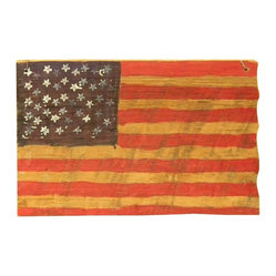 The Rusted Nail LLC - American Flag - What better material for the Stars and Stripes than wood salvaged from old barns in rural Georgia? Show your pride with this striking piece, hand painted and treated to last, so you can give it the heirloom status it deserves.
