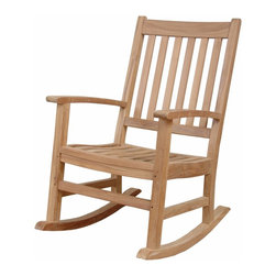 Anderson Outdoor Furniture - Palm Beach Rocking Armchair - The perfect seat for the perfect summer evening. Add this solid-teak rocking armchair to your front porch or back patio, then just sit back, relax and watch the world go by.