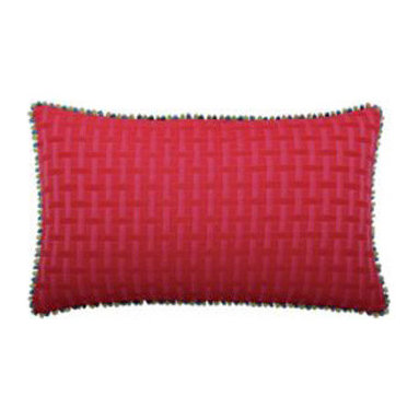 """New Elaine Smith Pillows - Kaleidoscope Quilted Basketweave - 12"""" x 20"""" Elaine Smith Pillows"""