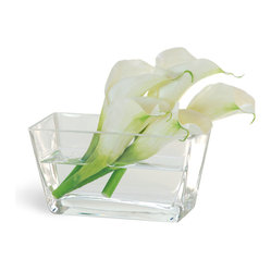 Calla Lily In Glass White Flower Arrangement