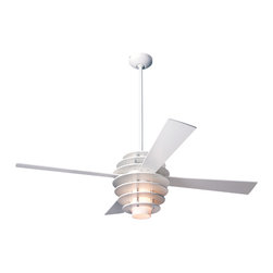 "Modern Fan Company - Modern Fan Company Stella White 42"" Ceiling Fan - Features:"