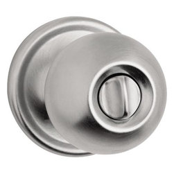 KWIKSET - Kwikset Circa Signature Series Privacy Lockset Satin Chrome - Kwikset - privacy set, new kwik-install feature with concealed screws.