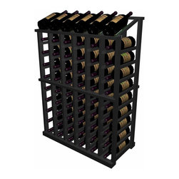 Wine Cellar Innovations - Half Height Individual Wine Rack with Display Designer Series in Premium Redwood - The Individual Half Height with Display wooden wine rack is a very popular size. It is the wine rack most popularly requested to fit underneath an archway, yet this rack has a display row on top for those wishing to forego a table top option, and wanting to display their more valuable wines in an attractive manner. Used alone or in a wine rack kit cellar, the Individual Half Height with Display wooden wine rack is 6 columns wide x 10 rows high and stores 66 bottles including the 6 displayed on top. Product requires assembly.