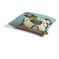 Angry Squirrel Studio Bulldog 13 Dog Bed - Perfect for dogs, cats,heck, even a pig! With our cozy pet bed made of a fleece top and waterproof duck bottom, you're bound to have one happy animal catching some zzzz's in ultimate comfort.