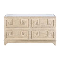Worlds Away - 4 Drawer Dresser - Werstler Limed Oak 4 Drawer Dresser
