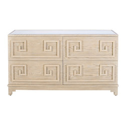 Worlds Away - 4 Drawer Dresser - Werstler Limed Oak 4 Drawer Dresser