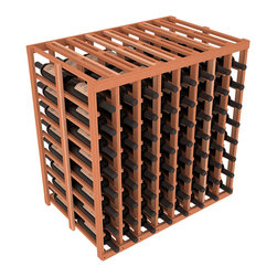 Wine Racks America - 8 Column 2-Deep Tasting Table in Redwood, (Unstained) - The quintessential wine cellar island; this wooden wine rack is a perfect way to create discrete wine storage in open floor space. With an emphasis on customization, install LEDs or add a culinary grade Butcher's Block top to create intimate wine tasting settings. We build this rack to our industry leading standards and your satisfaction is guaranteed.