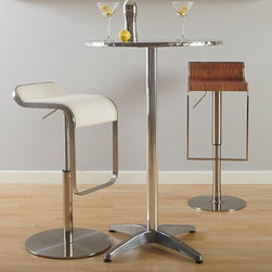 Allan-B - Round Stainless Steel Bar Table -