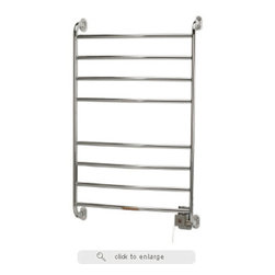 Warmrails - Warmrails Kensington Wall Mounted Hardwired or Softwired Towel Warmer - Warmrails wall mounted towel driers are an energy-efficient addition to your home, helping both the environment and your budget. The heated towel warmer and drying rack uses less energy than most standard light bulbs and can be run 24 hours a day, 7 days a week. It is far easier and much more cost-effective to run a heated towel warmer and drying rack than a full sized dryer.