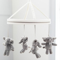 Harper Elephant Mobile - These elephants never forget to comfort baby with a serene song and soft sway at sleep time.