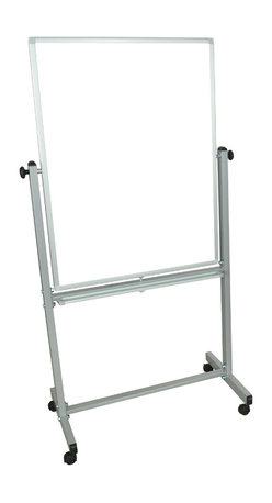 Luxor - Luxor Vertical Reversible Whiteboard - MB3040WW - The Luxor MB3040WW series are made from magnetic reversible whiteboards on both sides. Aluminum frame around board. 4 casters for easy mobility. 10 year warranty on the board. Board size: 29 7/8W x 39 3/8H Frame size is 29 7/8W x 68H