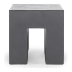 """Heller - Massimo Vignelli Cube - Features: -Great accent piece for home or office. -Constructed of one piece rotational molded polymer. -Overall Dimensions: 18.1"""" H x 18.1"""" W x 18.1"""" D."""