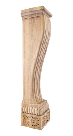 """Hardware Resources - Baroque Wood Fireplace/Mantel Corbel W/Carved Base Detail 8"""" x 7"""" x 36"""" Maple - Baroque Wood Fireplace / Mantel Corbel with Carved Base Detail.  8"""" x 7"""" x 36"""".  Species:  Maple."""