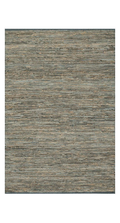 """Loloi Rugs - Loloi Rugs Edge Collection - Grey, 3'-6"""" x 5'-6"""" - Give your room an all-natural feel with the Edge Collection. These earthy rugs are hand woven in India of alternating strips of leather and jute for a unique tactile feel that your feet will love. Available in four neutral colors, ensuring a seamless addition to any decor."""