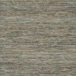 "Loloi Rugs - Loloi Rugs Edge Collection - Grey, 3'-6"" x 5'-6"" - Give your room an all-natural feel with the Edge Collection. These earthy rugs are hand woven in India of alternating strips of leather and jute for a unique tactile feel that your feet will love. Available in four neutral colors, ensuring a seamless addition to any decor."