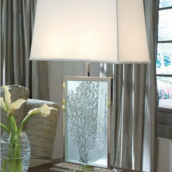 Regina Andrew - Regina Andrew Etched Sea Fan Table Lamp - Etched sea fan table lamp.