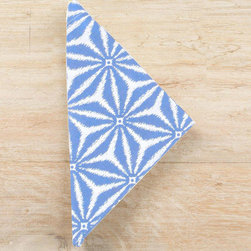 """Pine Cone Hill - PCH Kala French Blue Napkins Set of 4 - The Kala napkins complement a dining table with fresh, worldly style. A dazzling French blue and white geometric pattern pops on this stunning PCH design.  22""""W x 22""""H; Set of four; 60% linen, 40% cotton; Machine wash; Designed by Pine Cone Hill, an Annie Selke company"""