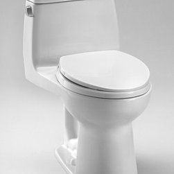 """Toto - Toto MS854114EL#01 Cotton Eco UltraMax Eco UltraMax One Piece - 1.28GPF ADA Compliant One-Piece Elongated Toilet with SoftClose SeatWhen it comes to Toto, being just the newest and most advanced product has never been nor needed to be the primary focus. Toto s ideas start with the people, and discovering what they need and want to help them in their daily lives. The days of things being pretty just for pretty s sake are over. When it comes to Toto you will get it all. A beautiful design, with high quality parts, inside and out, that will last longer than you ever expected. Toto is the worldwide leader in plumbing, and although they are known for their Toilets and unique washlets, Toto carries everything from sinks and faucets, to bathroom accessories and urinals with flushometers. So whether it be a replacement toilet seat, a new bath tub or a whole new, higher efficiency money saving toilet, Toto has what you need, at a reasonable price.Sleek high profile one piece toiletADA Compliant E-Max (1.28 Gpf/4.8 Lpf) Complete with SoftClose seat, or upgrade to a Washlet.Fast Flush: Wide 3"""" flush valve is 125% larger than conventional 2"""" flush valves.Wider, 2 1/8"""" computer designed, fully glazed trapwayLarge water surfaceFive Year Limited Warranty"""