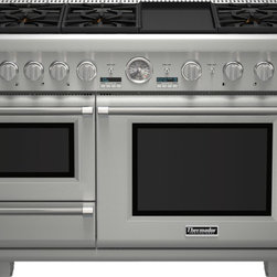 Thermador - 48 inch Professional Series Pro Grand Commercial Depth Dual Fuel Steam Range PRD - The first high-performance range with a built-in Steam + Convection Oven. Introducing the Pro Grand® Steam - a range that will change the way real cooks cook. This Ultimate Culinary Center™ features seven cooking options: ExtraLow® simmering featuring our Star® Burners, 22,000 BTUs Power Burner, Titanium Griddle & Grill, a large capacity Convection Oven, Warming drawer and the industry exclusive Steam & Convection Oven. The Pro Grand® Steam Range does what we've done throughout our history - set and define the new industry standard.