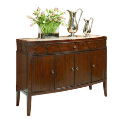 American Drew - American Drew Motif Sideboard in Walnut - Sideboard in Walnut belongs to Motif Collection by American Drew Walnut Veneer with Exotic Figured Mozambique Sideboard (1)