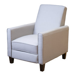 Great Deal Furniture - Lucas Grey Fabric Recliner Club Chair - Relax in your very own recliner club chair. Enjoy the dual-function that features both a foot extension as well as a reclining back. Chair is great for small spaces creating a great place to take a nap or watch TV.