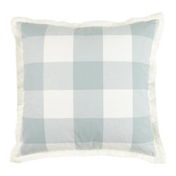"""Mystic Valley - Mystic Valley Traders Crossings Sky - 18"""" Pillow - The Crossings Sky, by Mystic Home"""