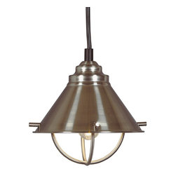 Kenroy - Kenroy KR-66342-BS Harbour Modern / Contemporary Pendant Light - Inspired by nautical lanterns, these pendants are a beautiful addition to any kitchen.  Available in cool Brushed Steel, warm Copper, or Oil Rubbed Bronze finish, they subtly complement sink fixtures and cabinet hardware.