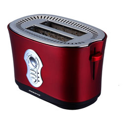 Ovente - Ovente 2 Slice Metallic Red Toaster - Make the perfect piece of toast with this Ovente two-slice toaster. The seven settings allow you to make the toast the perfect brown tone that you love to eat and an easy-to-remove crumb tray tray for easy cleaning.