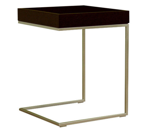 Baxton Studio - Baxton Studio Black Wood Top C Table - Stylish and unique end table that is sure to complete any home d???cor. End table features durable oak wood construction with steel frame.  Its perfect combination of quality craftsmanship and simple, sophisticated designs will instantly enhance your living space.  Overall measures 17 inches wide x 17 inches deep x 18 inches high