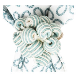Juliska - Juliska Stripe Bead Bouquet Napkin Ring, Ice Blue - Juliska Stripe Bead Bouquet Napkin Ring Ice BlueA bangle, a bauble, and beads all wrapped into one, this burst of cheerful and chic Ice Blue stripes is a wonderful way to pattern mix with your napkins and settings. Dimensions: 3'L