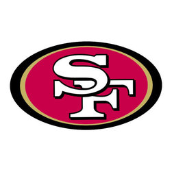Brewster Home Fashions - NFL San Francisco 49ers Teammate Logo Wall Sticker Decal - FEATURES: