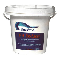 Blue Wave - Blue Wave pH Reducer - 6 lb - Ph reducer the safer alternative to muriatic acid! use as needed to lower ph to ideal range of 7. 2 to 7. 6 ppm. Stops eye irritation, cloudy water, and scaling caused by high ph. Boosts chlorine ability to fight bacteria and algae. Contains granular sodium bisulfate. Recommended dosage: 6 oz. Per 10,000 gallons.