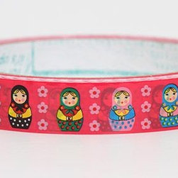 pink Matryoshka Deco Tape colourful Russian dolls cute - pink Matryoshka Deco Tape
