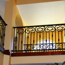 Granada Iron Railing by First Impression Security Doors - First Impression Security Doors creates amazing railings and staircases.