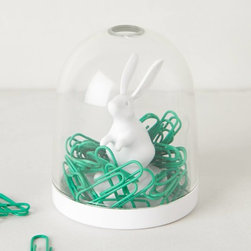 Paper Clip Dome, Bunny - And how about a cute bunny dome to store all of those paper clips?