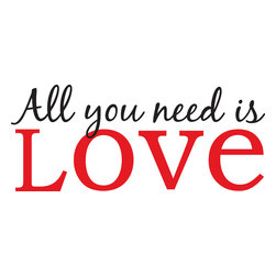 "WallPops - All You Need is Love Wall Phrases Decals - The Beatles were really on to something special! ""All You Need is Love"", a simple and moving saying for your wall. This WallPops Wall Quote has a beautiful sentiment. ""All You Need is Love"" Wall Phrase come on two 9.75"" x 17.25"" sheets and contains 6 total pieces.  WallPops are always repositionable and removable."