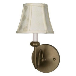 Glomar - Glomar Vanguard 1-Light 6 in. Wall Fixture with Ecru Diamond Shades Flemish Gold - Shop for Lighting & Fans at The Home Depot. The 1940's are back with a hint of today. This collection is available in Flemish Gold or Textured Black finishes and complimented by Ecru diamond patterned Shantung shades or Gold Washed Alabaster Swirl glass. The Vanguard collection makes a beautiful and timeless addition to any room.