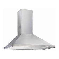 Flotera - Wall-mounted Aurel 30-inch Contemporary Stainless Steel Range Hood - Item #: 11980716