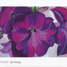 Petunias, c.1925 Print by Georgia O'Keeffe at Art.com
