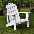 """Shine Company Inc. - Marina Adirondack Chair - This chair features the traditional, wide arm rests, curved seat, and high back support that makes the Adirondack chair a pleasure to sit in. Features: -Marina Adirondack chair.-Made of premium, high quality yellow Cedar wood known for its natural resistance to moisture, decay, and insect damage.-Rust resistant galvanized steel hardware.-Functional and practical to use it indoors and out on patios, decks and lawns.-Weight capacity: 300 lbs.-Unfinished for your own styling.-Solid Wood Construction: Yes.-Distressed: No.-Powder Coated Finish: No.-Weather Resistant or Weatherproof: Weather resistant.-UV Resistant: No.-Mildew Resistant: No.-Cushions: No.-Fade Resistant: No.-Ottoman Included: No.-Water Resistant or Waterproof : Water resistant.-Armrest Cupholder: No.-Glider: No.-Rocker: No.-Swivel: No.-Stacking: No.-Folding: No.-Reclining: No.-Adjustable Headrest: No.-Seating Capacity: 1.-Commercial Use: Yes.-Recycled Content: No.-Remanufactured/Refurbished : No.-Eco-Friendly: No.Dimensions: -Seat: 15'' H x 22.5'' W x 20'' D.-Seat Height Without Cushion: 14.75"""".-Arm Height: 21.75"""".-Arm Width: 4"""".-Leg Width - Side to Side: 3.75"""".-Leg Depth - Front to Back: 31"""".-Overall Height - Top to Bottom: 37"""".-Overall Width - Side to Side: 28"""".-Overall Depth - Front to Back: 35"""".-Overall Product Weight: 18 lbs.Assembly: -Partial assembly is required.-Tools Needed: Screwdriver, power drill optional.-Additional Parts Required: No.Warranty: -Product Warranty: 1 Year."""