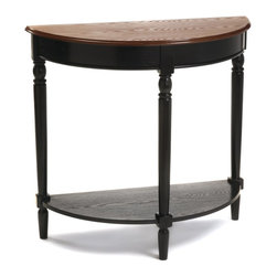 Convenience Concepts - Convenience Concepts Accent Table X-2812406 - The French Country Entryway Table is the perfect way to greet your guests, or welcome you home. The beautiful wood grain finish, and carved legs combine sophistication and elegance. Also featuring a bottom shelf for additional storage, or welcoming pieces, and it's half moon shape helps reduce bulk. Coordinating items are available and sold separately.