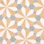 Flower Stone Floor - Studio V153 - Water Jet Collection