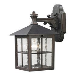 Cornerstone - Cornerstone 8201EW/70 Shaker Heights 1 Light Outdoor Wall Lights in Hazelnut Bro - Coach Lantern Small