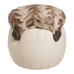 Salmagundi - Leather & Fox Tuffet - Are you looking for a one-of-a-kind conversation piece for your space? Don't look any further. Put your feet up, open a book and the night is yours. Unless you have guests, then this tuffet is up for grabs!