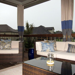 Mix and Match Designer Outdoor Stripe Drapes -