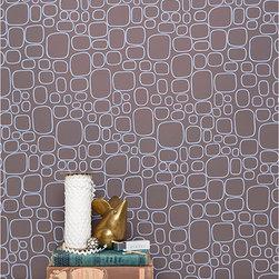 """Kimberly Lewis - SAMPLE Sierra Wallpaper in Cadmium - Kimberly Lewis - WALLPAPER SAMPLES are approximately 8"""" x 11"""""""