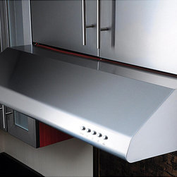 Kobe - KOBE Brillia CHX20 Series 36-inch Under Cabinet Range Hood - This stainless-steel under-cabinet range hood has three speed controls, so you can make sure the air is clear. The modern design looks attractive in any kitchen setting, and the corners and edges are buffed for a smooth touch and appearance.