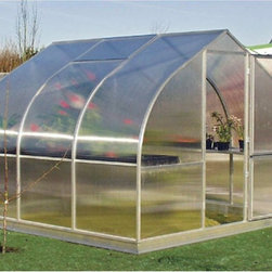 Hoklartherm - Hoklartherm RIGA III 9.6 x 10.5-Foot Greenhouse - RIGA 3 - Shop for Greenhouses from Hayneedle.com! Additional Features8 MM UV-coated twin wall polycarbonate over main bodyFront and back 10 MM UV-coated twin wall polycarbonate10 MM polycarbonate provides extra strengthSome assembly requiredDutch barn door measures 30W x 79H inchesPeak height measures 7.5H feetMeasures 9.6W x 10.5L x 7.5H feetEnjoy having the ability to grow plants flowers and vegetables in any season with the RIGA III 9.6 x 10.5-Foot Greenhouse. Designed so you can grow and protect plants in any season including winter the RIGA III features the use of a polycarbonate glaze to protect your plants. The 8 MM UV-coated twin wall polycarbonate covers the entire greenhouse while the 10 MM UV-coated twin wall polycarbonate covers the front and back for added protection. Constructed of durable metal the greenhouse has frame profiles which are permanently attached to each other to ensure they won't come loose after years of wind exposure. The doors and windows are made to ensure optimal ventilation and the sturdy Dutch barn doors even have a key lock. Assembly is a weekend project for one or two people.About HoklarthermAfter erecting his first greenhouse the thermo semicular arch greenhouse in his family garden in 1978 Mr. Werner Hollander graduate engineer founded Hoklartherm in 1982. Mr. Hollander's social circle was very interested in his greenhouse and more models followed quickly after. Today Hoklartherm is the biggest manufacturer of high-quality greenhouses made in Germany. Hoklartherm is in the business of developing ideas made of metal and glass for your house yard and garden. For over 20 years they have developed and produced greenhouses winter gardens pool houses pavilions terrace roofings solar verandas and much more. They take pride in innovation and creativity.