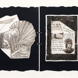 Lais Polansky, Album Pages, Etching with Intaglio Print - Artist:  Lais Polansky