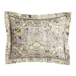 """Legacy Home - Legacy Home Standard Archival Urn Sham - We search out new fabrics each season, choosing patterns we think will look stunning as bed linens. The pretty quartz background and relaxed, antique feel of """"Archival Urn"""" got our attention instantly. """"Archival Urn"""" bed linens are by Legacy Home. Du..."""